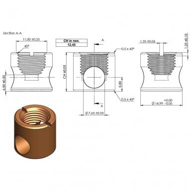 Cilindras KD sistemai, bronza