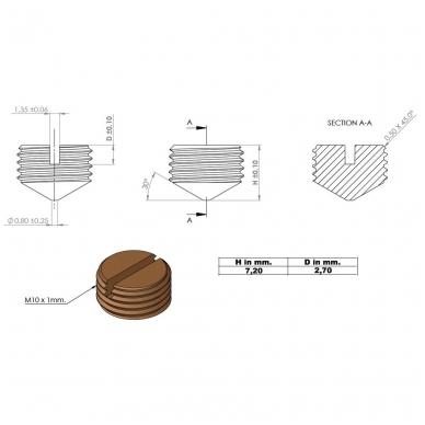 Sraigtas KD sistemai, bronza 3