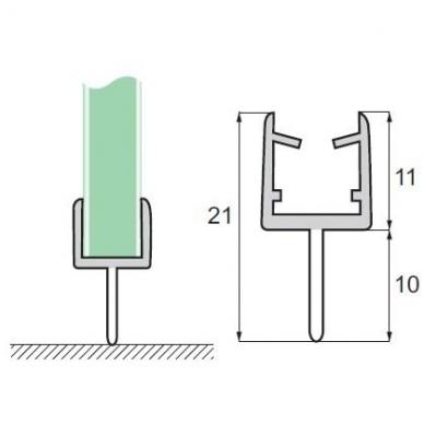 PVC tarpinė stiklas/grindys S-5701 , 2,5m