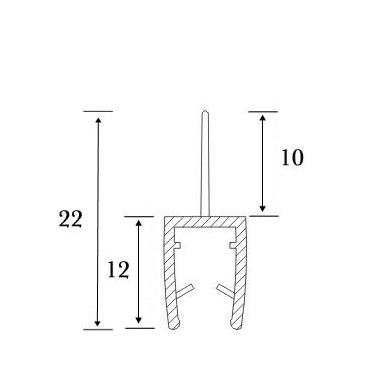 PVC tarpinė stiklas/grindys S-5701 , 2,5m 3