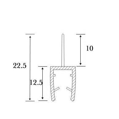 PVC tarpinė stiklas/grindys S-5701 , 2,5m 4