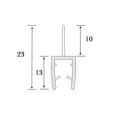 PVC tarpinė stiklas/grindys S-5701 , 2,5m 5