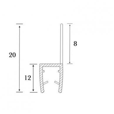 PVC tarpinė stiklas/ grindys S-5702 2,5m 3