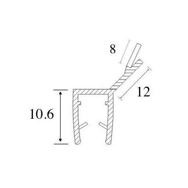 PVC tarpinė stiklas/ stiklas 135' S-5703 , 2,5 m 3