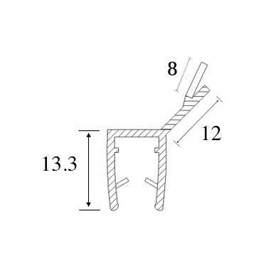 PVC tarpinė stiklas/ stiklas 135' S-5703 , 2,5 m 4
