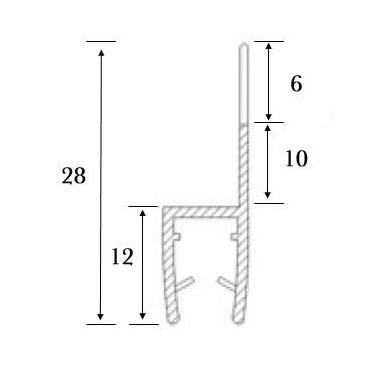 PVC tarpinė stiklas/ stiklas 180' S-5705, stiklui, L-2,5 m 3