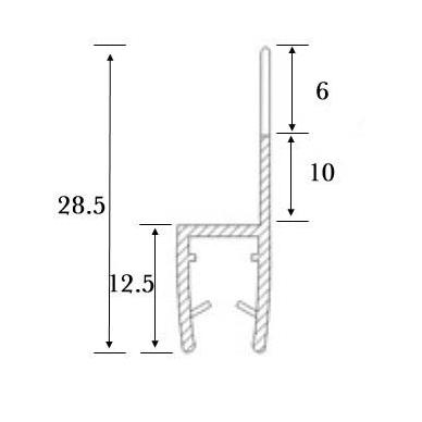 PVC tarpinė stiklas/ stiklas 180' S-5705, stiklui, L-2,5 m 4