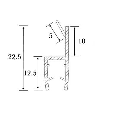 PVC tarpinė stiklas/ stiklas 180' S-5706 L-2,5m, 4