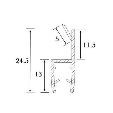 PVC tarpinė stiklas/ stiklas 180' S-5706 L-2,5m, 5
