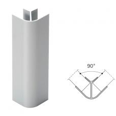 90' jungtis cokoliniam plintusui H.100 mm, INOX šlifuotas 0034