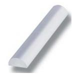 Akrilo profilis 5 mm L-2,5 m, skaidrus
