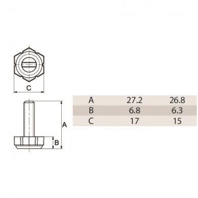 ALFA kojelė M6,  šešiakampė 2