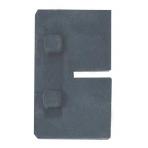 Apsauga apkabai SQUARE 3 mm, juoda