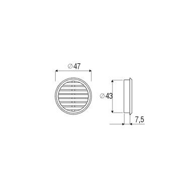 Apvalios ventiliacinės grotelės 2
