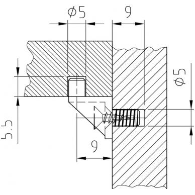 Baltas plast. lentynos laikiklis su medsraigčiu 3