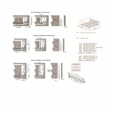 Bėgeliai MODERN BOX 4
