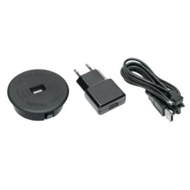 Belaidis telefono pakrovėjas GTV su USB jungtimi, juodas