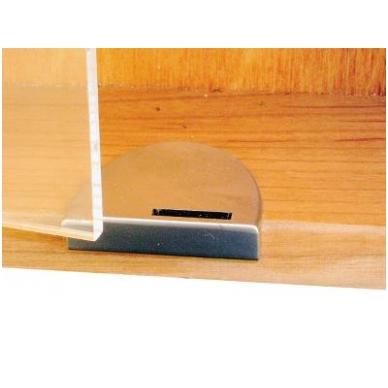 Briaunos plokštelė stiklo spynelei BADGE, aliuminis 4