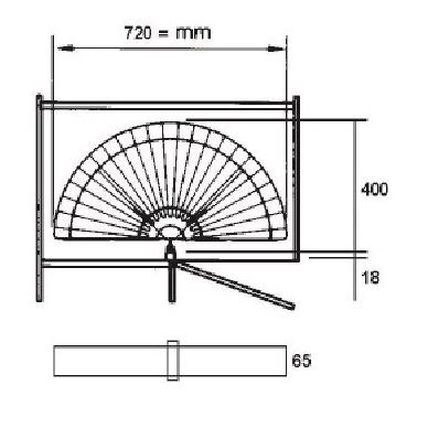 Chromuota pusinė karuselė 750 mm 2