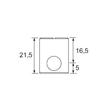 Cilindras KD sistemai S1522 D.15x21,5 mm, bronza 4