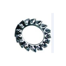 Dantyta poveržlė DIN 6798A, D.8,4 mm, cinkas