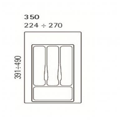 Dėklas į stalčių 35cm, pilkas 2
