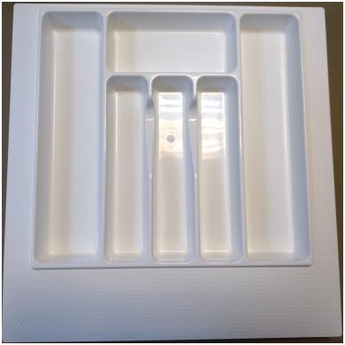 Dėklas į stalčių 50 cm, baltas