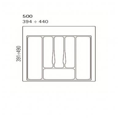 Dėklas į stalčių 50cm, pilkas 2