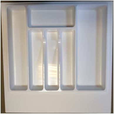 Dėklas į stalčių 60 cm, baltas