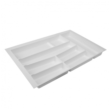 Dėklas į stalčių 80 cm, baltas