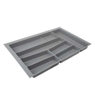 Dėklas į stalčių 80cm, pilkas