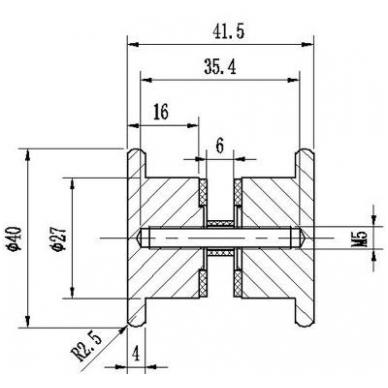 Durų rankenėlė KIEL D.39 mm, 6-10 mm stiklui chromas 2
