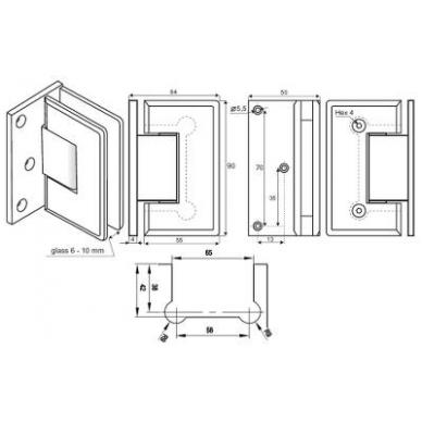Dušo kabinos lankstas 2