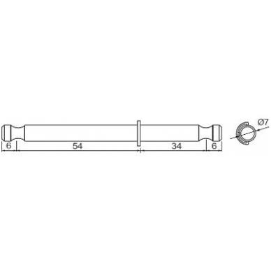 Dviguba sąvarža 34/54 mm su žiedeliu, cinkas 2