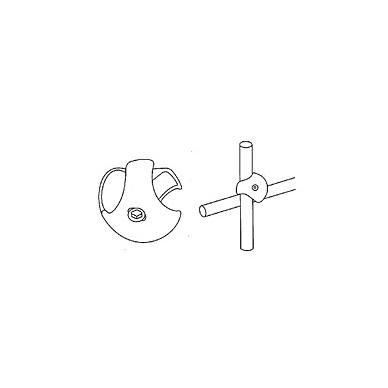 Dvikryptė sutvirtinimo detalė D.25, chromas,dešinė 3