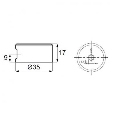 Ekscentrikas FUERTE D.35x17 2