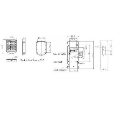 Elektroninė spynelė  DC6V 2