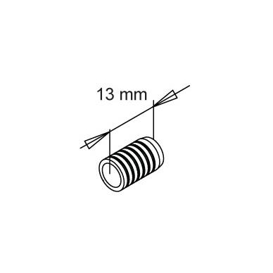 Fiksavimo kaištis 1140, mergaitė, plastmasinis, rudas 2