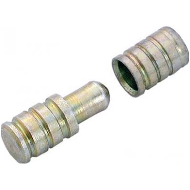 Fiksavimo kaištis D.8x20.5 mm , cinkas, berniukas/mergaitė