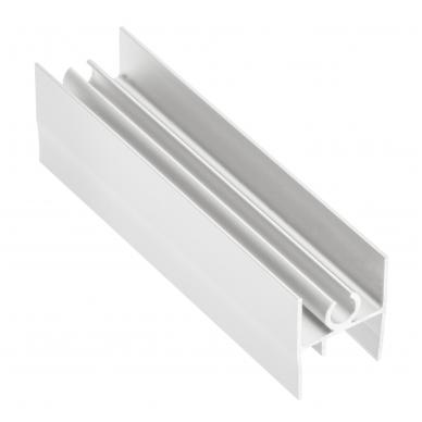 Viršutinis HORIZONTAS 18/4 mm L-3 m, baltas/juodas 2