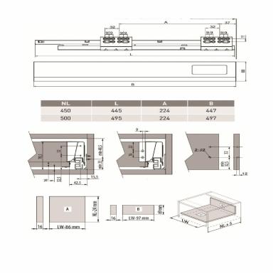 Bėgeliai MODERN BOX 6