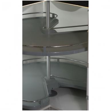 GIRO 3/4 karuselė D.800 mm, pilka-chromas
