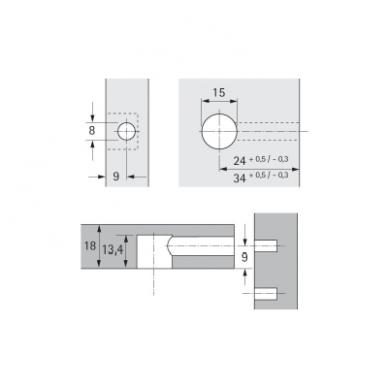 Ekscentrikas plokštei plieno sp. 3