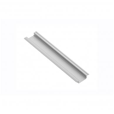 Įfrezuojamas aliuminio profilis LED juostai L-2 m, GTV