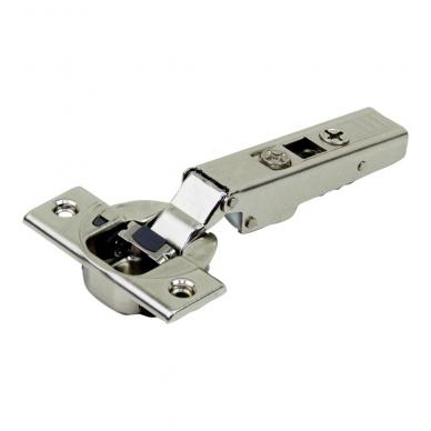 Išorinis BLUM lankstas su integruotu slopintuvu + CLIP plokštelė 0 mm