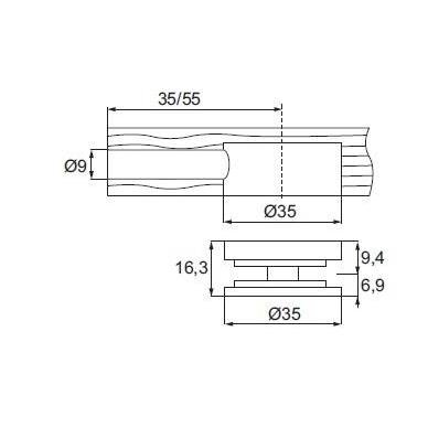 Jungtis ''Mamut'' D35mm 2