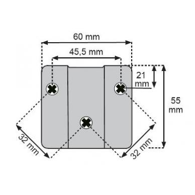 Kablinės stalviršio sąvaržos jungiamoji dalis 2