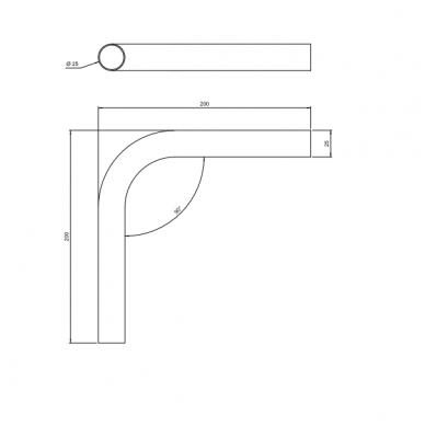Kampas D.25mm, 20x20, chromas 2