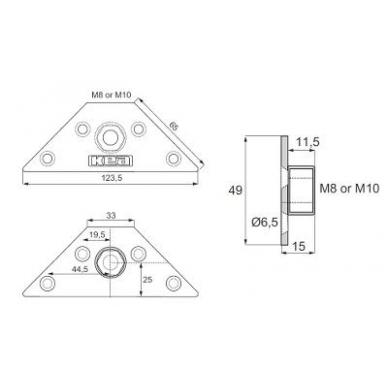 KEA trikampė plokštelė M10 5