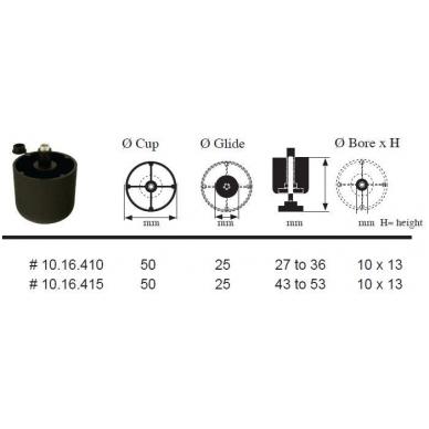 Kojelė juoda D.50 H.27 2
